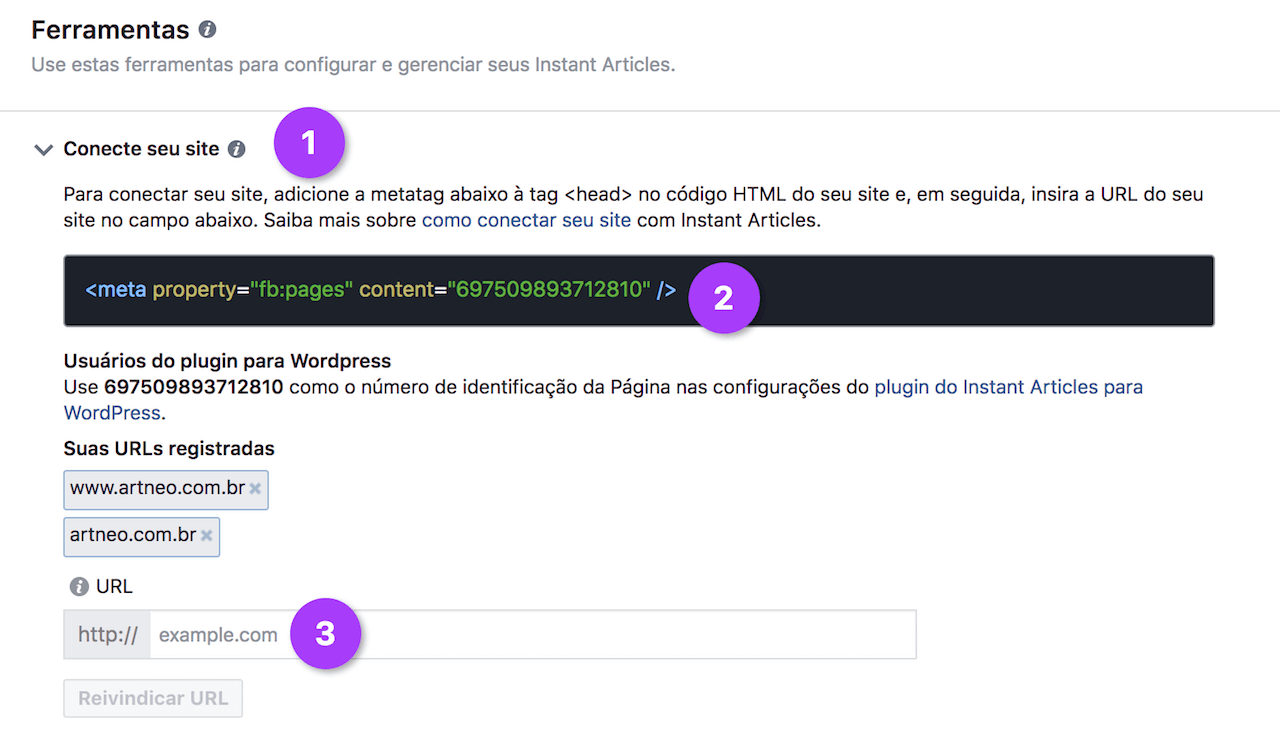 Conecte o site WordPress ao Facebook